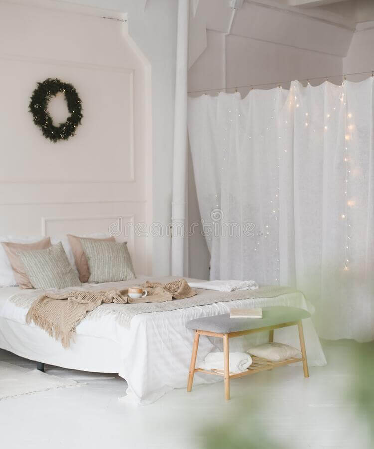 bed-beige-knitted-plaid-cup-interior-stylish-cozy-bedroom-beige-tones-wreath-wall-christmas-new-203300501