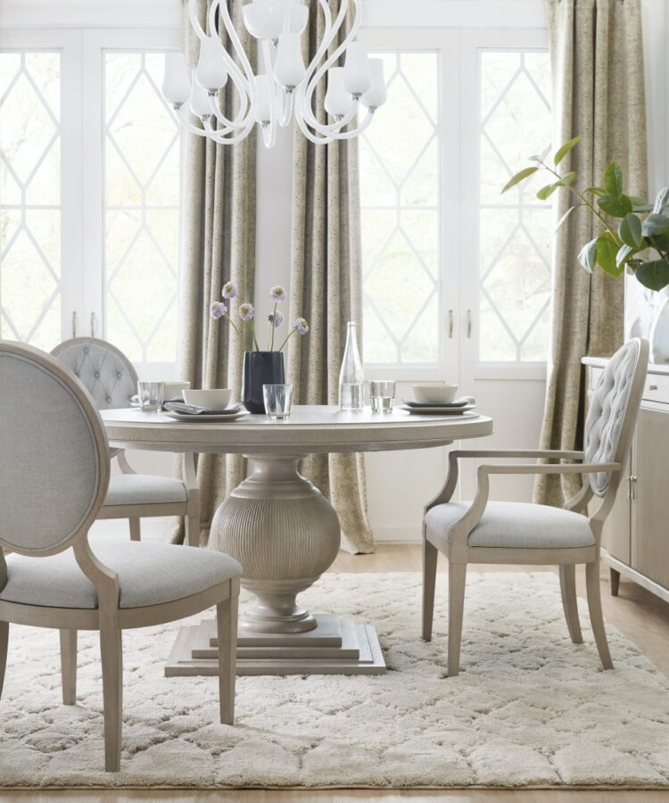 circle dining room table - Hooker Furniture Dining Room Reverie Round Dining Table Base